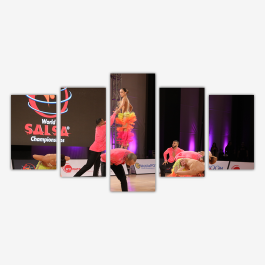 WSC Memorabilia 5 Piece Canvas Art Posters - World Salsa Championships