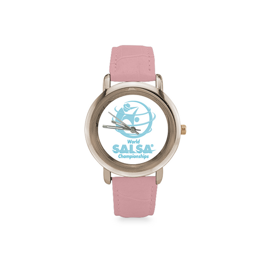 WSC Women's Rose Gold Leather Strap Watch - World Salsa Championships