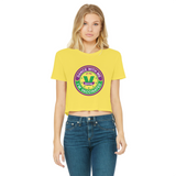 Dance with Me Classic Women's Cropped Raw Edge T-Shirt - World Salsa Championships