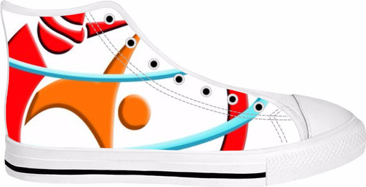 WSC Custom Vintage White High Tops-Hand made - World Salsa Championships