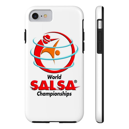 Tough iPhone 7 cover with World Salsa Championships Logo