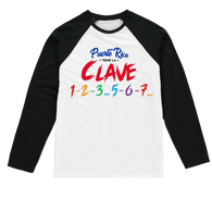 Puerto Rico Tiene La Clave Sublimation Baseball Long Sleeve T-Shirt - World Salsa Championships
