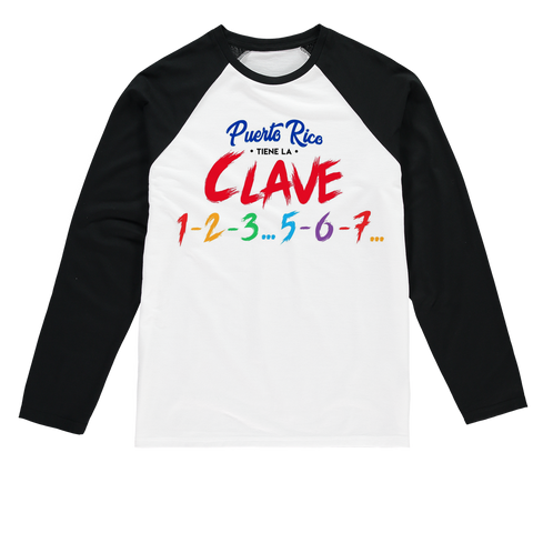 Puerto Rico Tiene La Clave Sublimation Baseball Long Sleeve T-Shirt