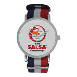 WSC Fashion Watch Nylon Strap Watch (Model 215) - World Salsa Championships