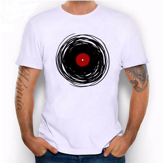 Hillbilly Spinning With A Vinyl Record Retro Music DJ Men's Medium White Graphic T-Shirt Unisex Clothing T Shirt Men Tees & Tops - World Salsa Championships
