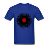 Hip Hop T Shirt Men Spinning With A Vinyl Record Retro Music DJ T-Shirt Adult Tops Shirt Plus Size - World Salsa Championships