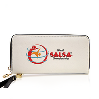 PU Leather Zip Around Wallet For Card, phone and Money - World Salsa Championships