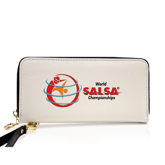 PU Leather Zip Around Wallet For Card, phone and Money - world-salsa-championships