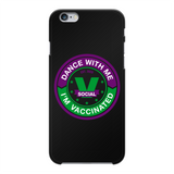 Dance with Me Back Printed Black Hard Phone Case