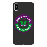 Dance with Me Back Printed Black Soft Phone Case