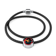 Private Collection- WSC Woven Double-Braided Real-Leather Charm Bracelet - World Salsa Championships