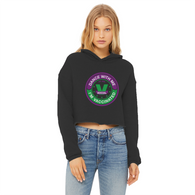 Dance with Me Ladies Cropped Raw Edge Hoodie - World Salsa Championships