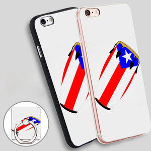 Phone cover-Conga Flag Puerto Rico Clear Soft Silicone Phone Case Cover for iPhone 4 4S 5C 5 SE 5S 6 6S 7 Plus - World Salsa Championships
