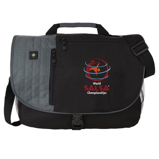 WSC Verve Check-point friendly Compu messenger bag - World Salsa Championships