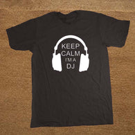 DJ Collection-Keep Calm I'm A DJ Party Headphones Rave T Shirt Men Novelty Funny Tshirt Man Clothing Short Sleeve Camisetas T-shirt - World Salsa Championships