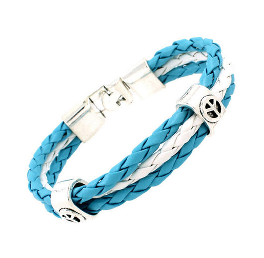 World Cup National Flags Sports 3 Strands Rope Braided Surfer Leather Bracelets Fashion Men/Women Jewelry Bracelets - World Salsa Championships