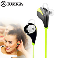 TOMKAS Bluetooth 4.0 Sport Earphone Wireless Headset Stereo Mic Music Hands Free In-ear Bluetooth Earphone  For iPhone 6 7 Phone