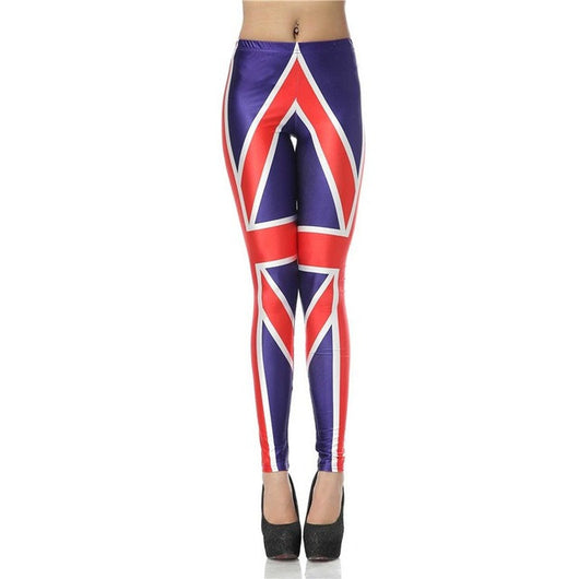 Leggings with British Flag Legings High Waist Elastic Slim Leggings Printed Women Leggings Woman Pants - World Salsa Championships