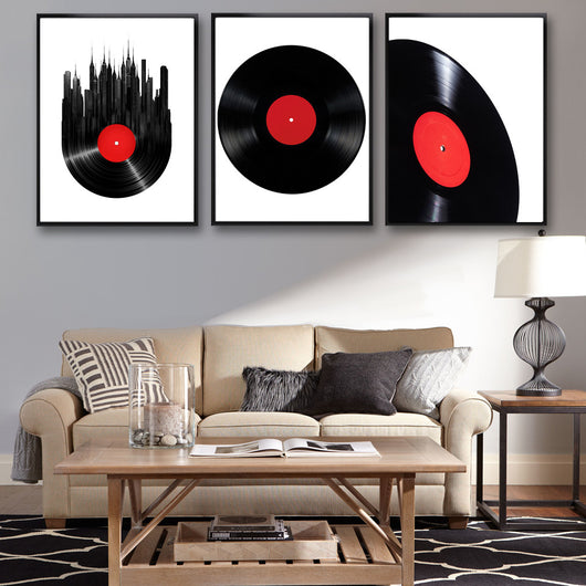 DJ Collection Classical Vinyl Records Art Canvas Poster Modern Minimalist  Living Room Home Decor Painting ...