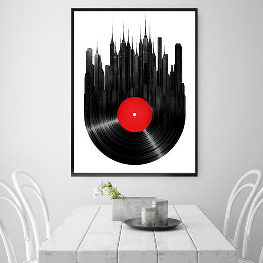 DJ Collection-Classical Vinyl Records Art Canvas Poster Modern Minimalist Living Room Home Decor Painting Background (No Frame) - World Salsa Championships