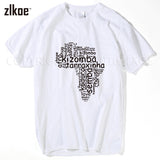 Kizomba Cloud Tee Shirts Short Sleeve men T-shirts. 2016 Simple Style New Design men. All sizes. - World Salsa Championships