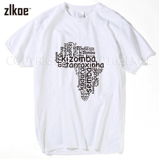 Kizomba Cloud Tee Shirts Short Sleeve men T-shirts. 2016 Simple Style New Design men. All sizes. - world-salsa-championships