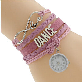 Infinity Love Dance Charm Handmade Customized Message Dance Clock Charm Bracelet Drop Shipping - World Salsa Championships