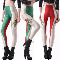 Leggins New Mexico Flag Women Pants  Fitness Legging Printed  Smooth Pants Digital Printing Leggings - World Salsa Championships