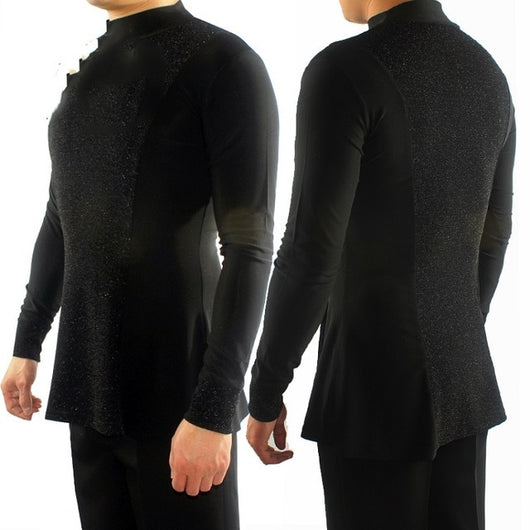 Ballroom  Latin Dance Shirts Men Clothes For Salsa Latin Dance Performance Practice Wear Adult Uniform Long Sleeve Tops DN1322 - World Salsa Championships
