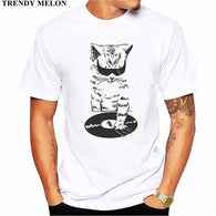 Trendy Melon Animal Printed T shirt Men DJ Music Cat Scratch T-shirt Funny Tops - World Salsa Championships