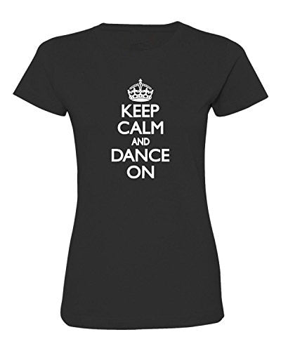 Keep Calm And Dance On Deluxe Soft Tees - world-salsa-championships