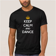 Brand La Maxpa Fashion T Shirt Men Keep Calm And Dance Regular T-Shirt For Men Spring Autumn Round Neck Clothing Regular Tshirt - World Salsa Championships