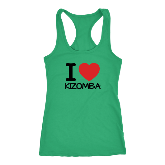 I love KIZOMBA Dancer Tank Top - world-salsa-championships