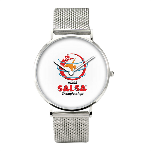 30 Meters Waterproof Quartz Bussiness Watch With Casual Stainless Steel Band - World Salsa Championships