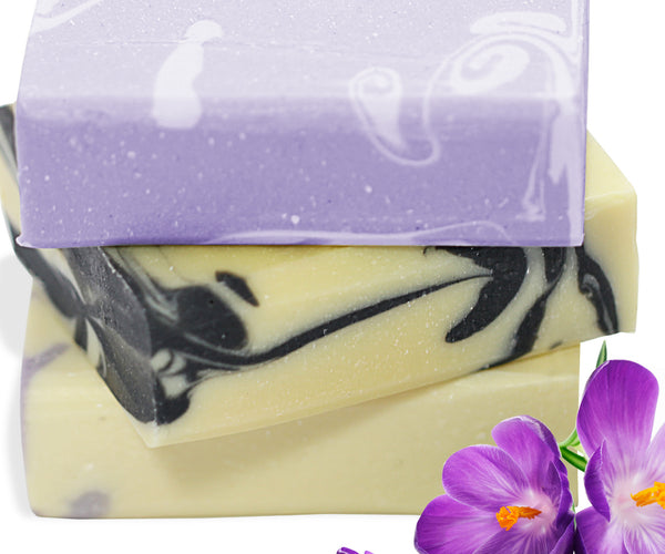 Handmade Bar Soap Gift Set, Organic & All Natural - 3 Full Size Bars (Set 2)