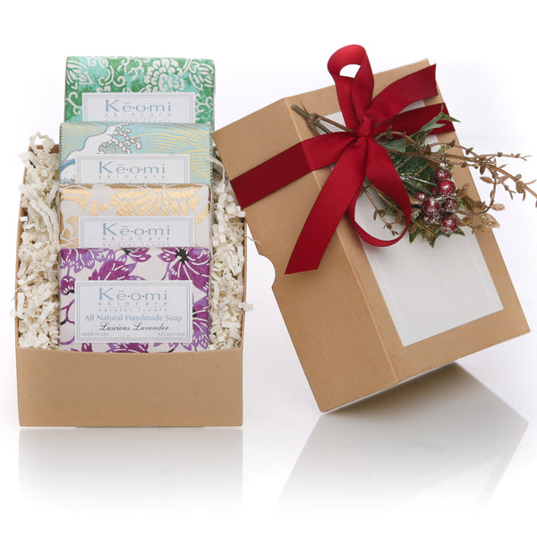 Keomi Naturals ORGANIC - ALL NATURAL - HANDMADE SOAP SET - 4 Full Size Bars