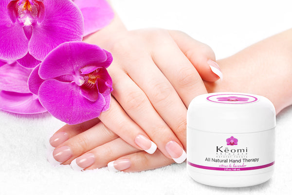 Keomi Naturals All Natural and Organic hand therapy cream for dry chapped eczema