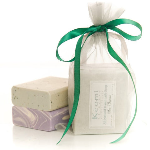 Organic Handmade Soap Gift Set - All Natural - 2 Full Size Bars - Sea Breeze and Luscious Lavender