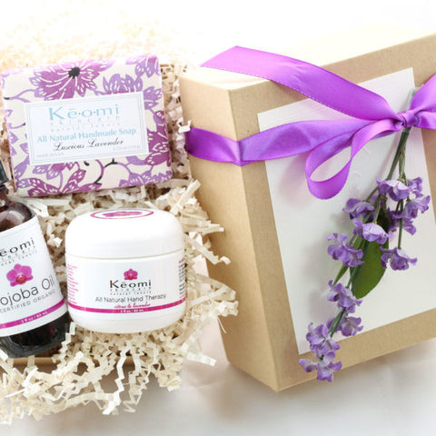 Keomi Naturals Bath and Body gift set perfect for her birthday