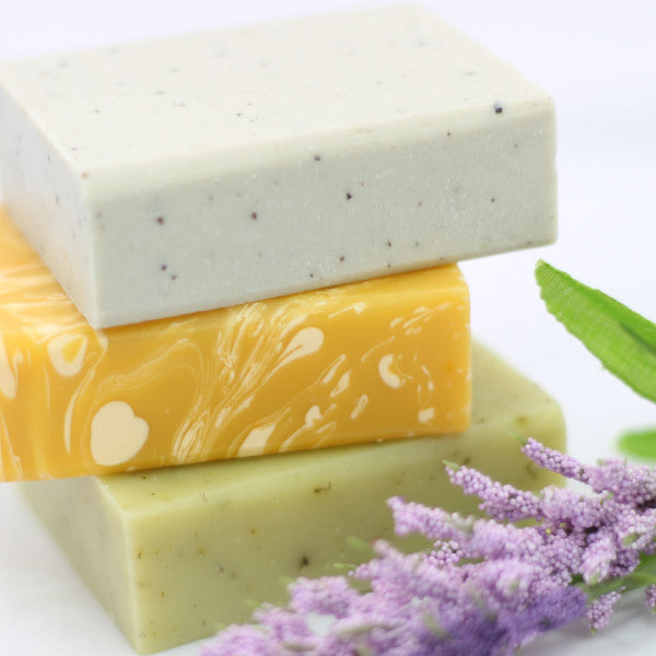 ORGANIC - ALL NATURAL - HANDMADE SOAP SET - 3 Full Size Bars
