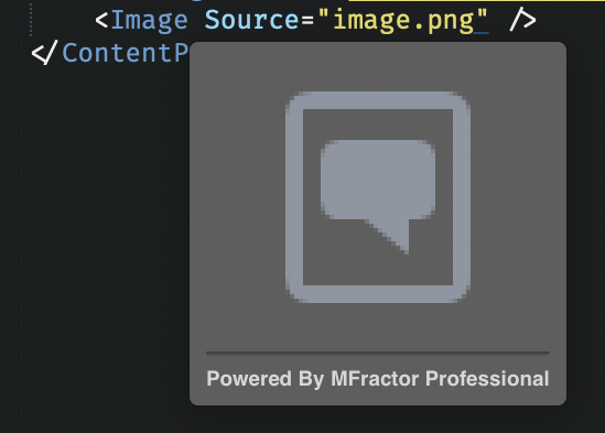 Using an image resource in XAML