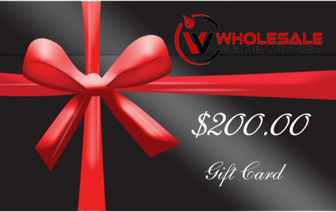 $200 WHOLESALE GIFT CARD $200.00