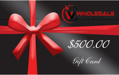 $500 WHOLESALE GIFT CARD $500.00