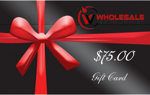 $75 WHOLESALE GIFT CARD $75.00