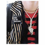 not moschino enamel pin jeremy scott lapel pin moschino fashion blogger pin kubiko club