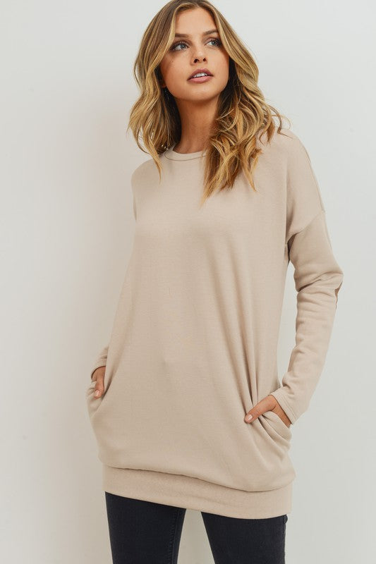 Elbow Patch Pocket Tunic