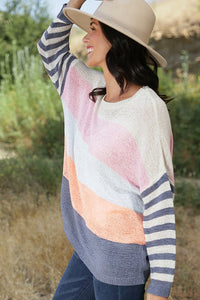 Multi Stripe Lightweight Sweater