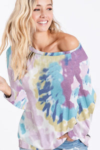 Tie Dye Knit Pull Over