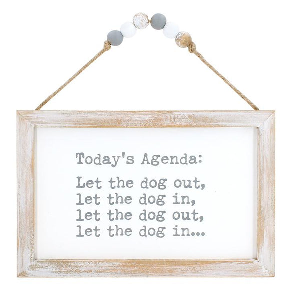 Today's Agenda Beaded Sign