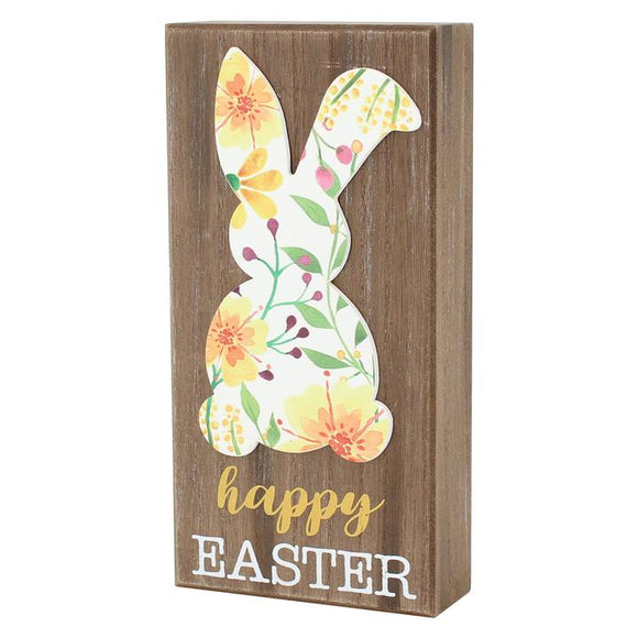 Happy Easter Bunny Box Sign
